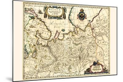 Russia Moscow Northern And Eastern Parts-Willem Janszoon Blaeu-Mounted Art Print
