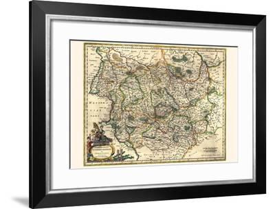 Archbishopric Of Magdeburg And The Duchy Of Anhalt-Willem Janszoon Blaeu-Framed Art Print