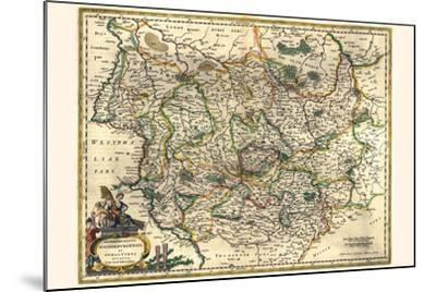Archbishopric Of Magdeburg And The Duchy Of Anhalt-Willem Janszoon Blaeu-Mounted Art Print