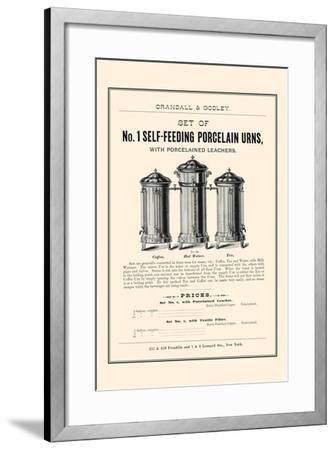 No. 1 Self-Feeding Porcelain Urns--Framed Art Print