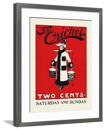 The Cricket, Two Cents-Rudolph Dirks,-Framed Art Print