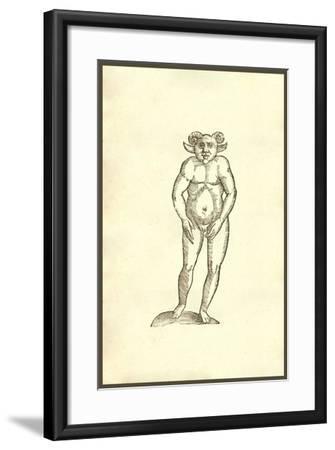 Monstrum Humanum Coribus Arietinis-Ulisse Aldrovandi-Framed Art Print
