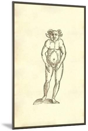 Monstrum Humanum Coribus Arietinis-Ulisse Aldrovandi-Mounted Art Print