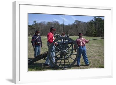 Reenactment Of Civil War Siege-Carol Highsmith-Framed Art Print