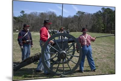 Reenactment Of Civil War Siege-Carol Highsmith-Mounted Art Print