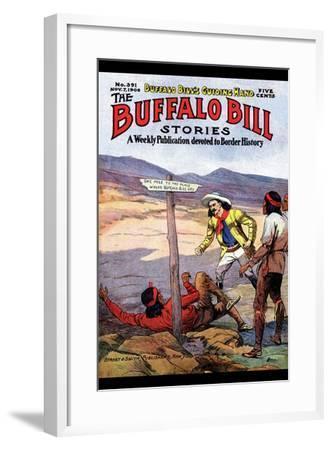Buffalo Bill Stories- Street & Smith-Framed Art Print