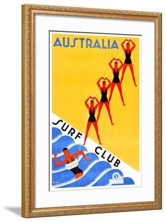 Australia Surf Club-Gert Sellheim-Framed Art Print