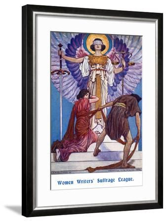 Women Writers' Suffrage League-W.H. Margetson-Framed Art Print