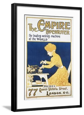 Empire Typewriter-Leading Machine In The World-Lucien Faure-Framed Art Print