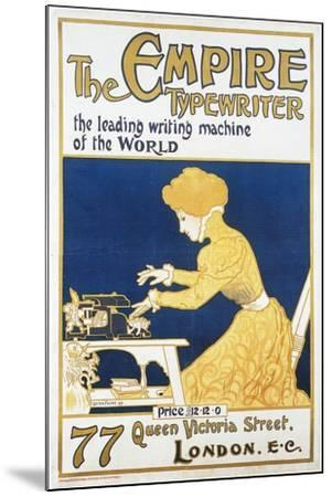 Empire Typewriter-Leading Machine In The World-Lucien Faure-Mounted Art Print