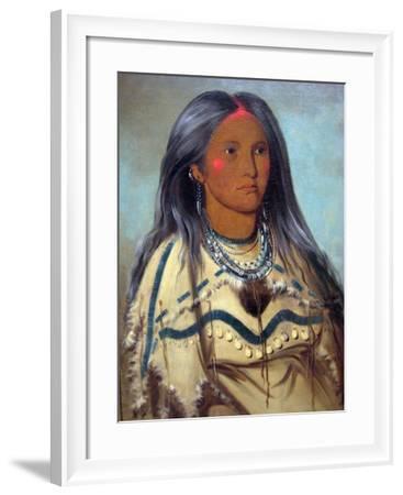 George Catlin Native American Maiden- Catlin-Framed Art Print