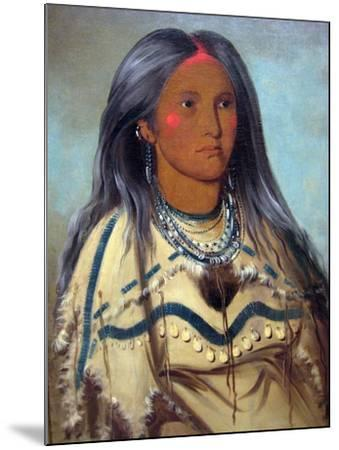 George Catlin Native American Maiden- Catlin-Mounted Art Print
