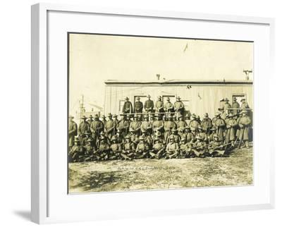 """Federal Troops Brought In To Put Down Strikes In Goldfield, Co. """"F"""" 1st Infantry NG Of Colorado-R.G. Leonard-Framed Art Print"""