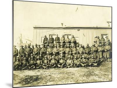"""Federal Troops Brought In To Put Down Strikes In Goldfield, Co. """"F"""" 1st Infantry NG Of Colorado-R.G. Leonard-Mounted Art Print"""