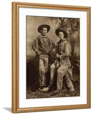 Two Armed Full Dressed Frontier Scouts- Whittick-Framed Art Print