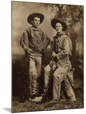 Two Armed Full Dressed Frontier Scouts- Whittick-Mounted Art Print