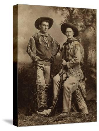 Two Armed Full Dressed Frontier Scouts- Whittick-Stretched Canvas Print
