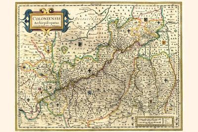 Dutch Map Of The Electorate Of Cologne-Willem Janszoon Blaeu-Framed Art Print