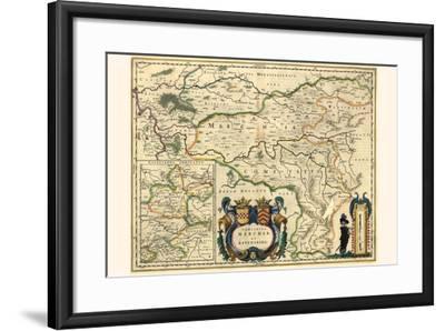 County Of Mark And Ravensburg-Willem Janszoon Blaeu-Framed Art Print