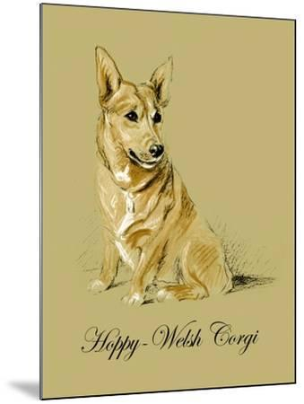 Hoppy The Welsh Corgi-Lucy Dawson-Mounted Art Print