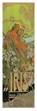 Iris, An Opera By Mascagni-Adolfo Hohenstein-Stretched Canvas Print
