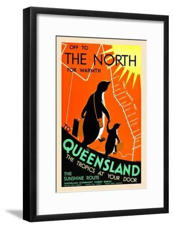Queensland; The Tropics At Your Door-Percy Trompf-Framed Premium Giclee Print
