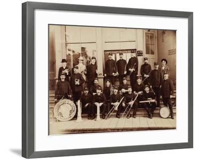 Red Men Band Deadwood, South Dakota 1890s--Framed Art Print