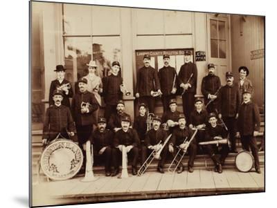 Red Men Band Deadwood, South Dakota 1890s--Mounted Art Print