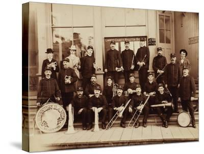 Red Men Band Deadwood, South Dakota 1890s--Stretched Canvas Print