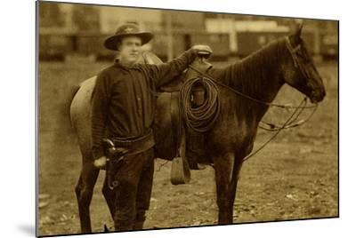 Arizona Sheriff With Revolver Ca 1880s-1890s.-J.C. Burge-Mounted Art Print