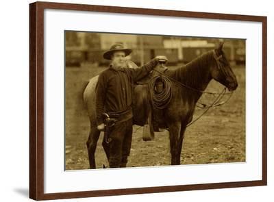 Arizona Sheriff With Revolver Ca 1880s-1890s.-J.C. Burge-Framed Art Print