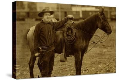 Arizona Sheriff With Revolver Ca 1880s-1890s.-J.C. Burge-Stretched Canvas Print
