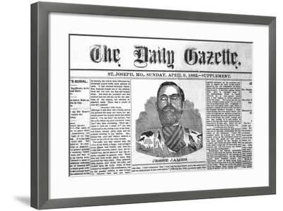The Daily Gazette-Jessie James--Framed Art Print