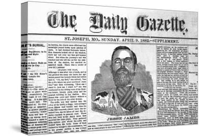 The Daily Gazette-Jessie James--Stretched Canvas Print