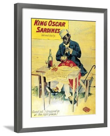 King Oscar Sardines--Framed Art Print