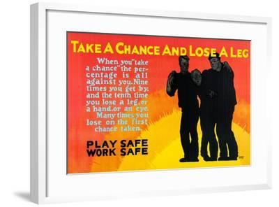 Play Safe Work Safe-Robert Beebe-Framed Art Print