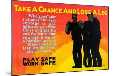 Play Safe Work Safe-Robert Beebe-Mounted Art Print