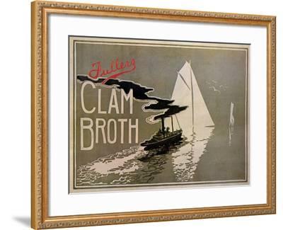 Fuller's Clam Broth-W. H. Walker-Framed Art Print