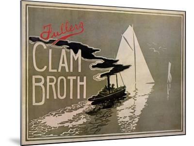 Fuller's Clam Broth-W. H. Walker-Mounted Art Print