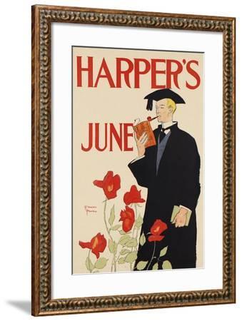 Harper's June-Edward Penfield-Framed Art Print