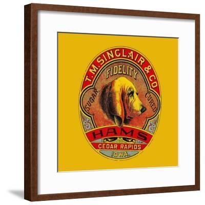 Fidelity Hams--Framed Art Print