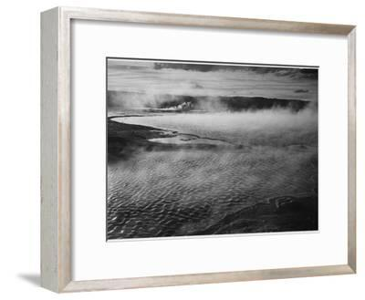 Water Surface Presents A Different Texture, Fountain Geyser Pool Yellowstone NP Wyoming 1933-1942-Ansel Adams-Framed Art Print