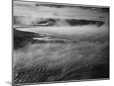 Water Surface Presents A Different Texture, Fountain Geyser Pool Yellowstone NP Wyoming 1933-1942-Ansel Adams-Mounted Art Print