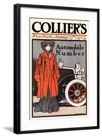 Collier's Automobile Number, New York, January 17th, 1903-Edward Penfield-Framed Art Print