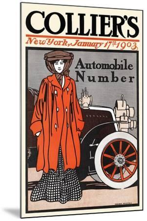 Collier's Automobile Number, New York, January 17th, 1903-Edward Penfield-Mounted Art Print