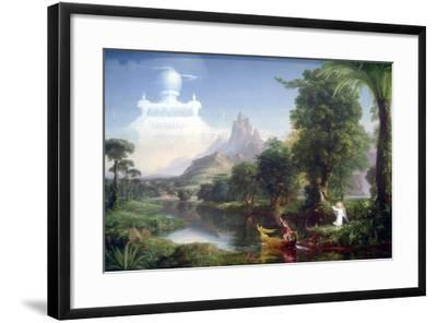 Voyage Of Life-Youth-Thomas Cole-Framed Art Print