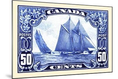 Canadian Yachting Postage Stamp--Mounted Art Print