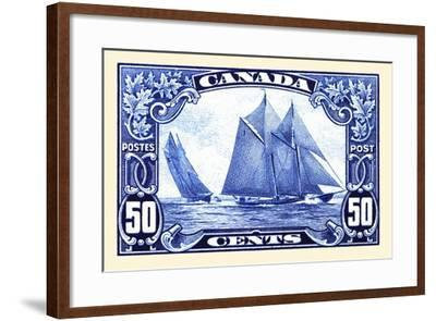 Canadian Yachting Postage Stamp--Framed Art Print