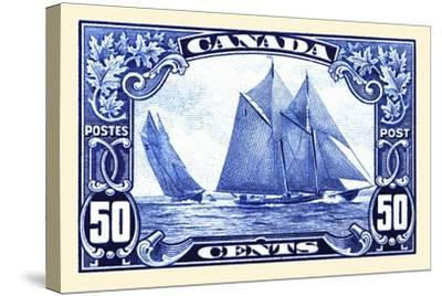 Canadian Yachting Postage Stamp--Stretched Canvas Print
