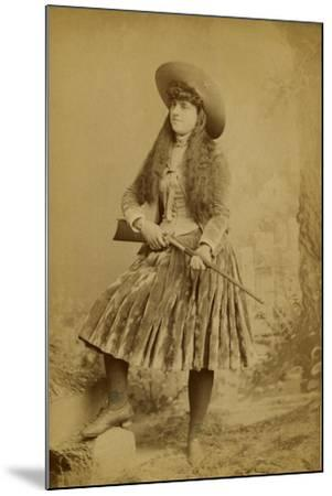 Female Wild West Sharpshooter With Rifle, 1889-J. Ulrich-Mounted Art Print